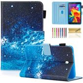 T330 Case, Galaxy Tab 4 8.0 inch Case, Dteck PU Leather Folio Multi-Angle Adjustable Stand Auto Wake/Sleep Smart Wallet Case for Samsung Galaxy Tab 4 8.0 Inch SM-T330 T331 T335, Blue Sky
