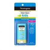 Neutrogena Wet Skin Kids Water Resistant Sunscreen Stick for Face and Body, Broad Spectrum SPF 70, 0.47 oz (Pack of 3)