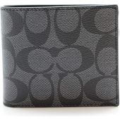 Coach Men's PVC Short Wallet (black CQBK)