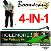 HOLEMORE The Putting Fix, Lag Putting Trainer, Tour Putting Aid, Includes Fast Putting Mat with Kinetic Golf Ball Returner. Improve Speed, Stroke Mechanics and Confidence