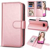 TILL for Galaxy S10e Case, TILL S10E Wallet Case 2 in 1 PU Leather Carrying Flip Cover [Cash Credit Card Slot Holder & Kickstand] Detachable Magnetic Folio Slim Protective Hard Case Shell [Rose Gold]