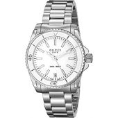 Gucci Dive Swiss Quartz Silver-Tone Women's Watch(Model:YA136402)