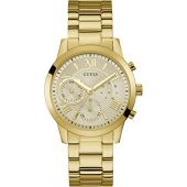 Guess Womens Multi Dial Watch Solar with Stainless Steel Strap