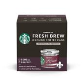 Starbucks Dark Roast Fresh Brew Ground Coffee Cans  French Roast  8 Count (Pack of 1)