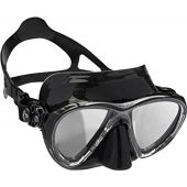 Cressi Scuba Diving Masks with Inclined Tear Drop Lenses for More Downward Visibility - Air and Eyes Evolution: Made in Italy