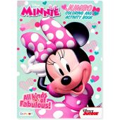 Minnie Jumbo Coloring and Activity Book Character Patterned Tool for Brain Stimulation 80-Page Creativity-Focused Gadget Quality Travel and Educational Kids Art Material