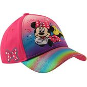 Disney Kids Hat, Minnie Mouse 3D Pop Baseball Cap for Girls Ages, Pink, Age 4-7