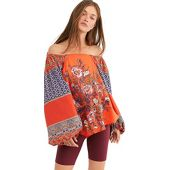 Free People Women's Positano Printed Blouse