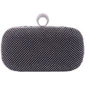 Black Pink Evening Bags Glitter And Clutches for Women Dance Wedding Party With Two Chain Strap