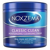 Noxzema Facial Cleanser, Moisturizing Cleansing Cream, 12 oz (pack of 6) Package May Vary