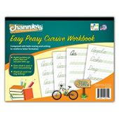 """Channie's Easy Peasy Cursive Tracing & Writing Practice Workbook, 80 Pages Front & Back, 40 Sheets, Grades 1st  3rd, Size 8.5"""" x 11"""""""