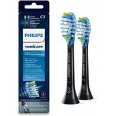 Philips Sonicare Premium Plaque Defence BrushSync Enabled Replacement brush Heads, 2pk, Black - HX9042/33