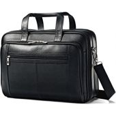 Samsonite Leather Checkpoint Friendly Briefcase, Black, One Size