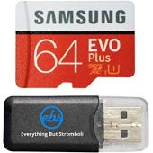64GB Micro SDXC EVO Plus Bundle Works with Samsung Galaxy S10, S10+, S10e Phone (MB-MC64) Plus Everything But Stromboli (TM) Card Reader