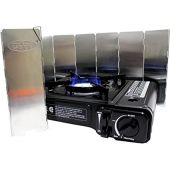 Gas ONE GS-3000 Portable Gas Stove with Carrying Case, 9,000 BTU, CSA Approved, Black (Stove + Windscreen)