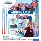 Disney Frozen 2 Double-Sided Wooden Easel with 25-Foot Coloring Paper Roll AS46283, Multicolor