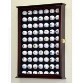 70 Golf Ball Display Case Cabinet Wall Rack Holder w/98% UV Protection Lockable