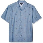 Tommy Hilfiger Men's Big and Tall Button Down Short Sleeve Shirt