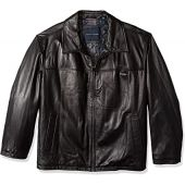 Tommy Hilfiger mens Open Bottom Classic Leather Jacket