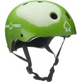 Pro Tec Certified Helmet Green Flake (Large)