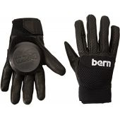 Bern Unlimited Leather Haight Longboard Glove, Black, Medium/Large