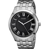 GUESS Stainless Steel Black Dial Bracelet Watch with Date. Color: Silver-Tone (Model: U0476G1)