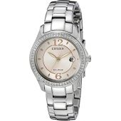 Citizen Women's Eco-Drive Silhouette Crystal Watch with Date, FE1140-86X